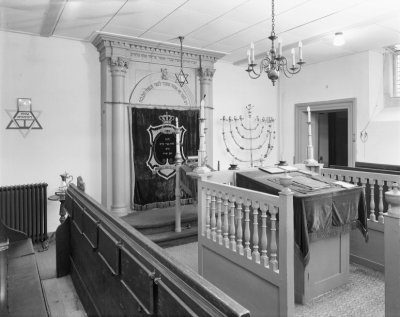 Interior of the Gorredijk synagogue